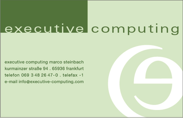 [executive computing Logo]